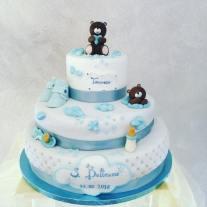 Torta Blu orsetto - baby and kids