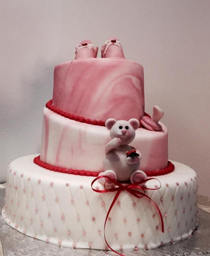 Torta Rosa Orsetto - baby and kids