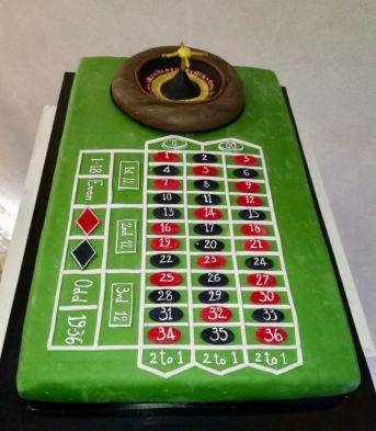 Torta di compleanno in cake design a tema Casinò