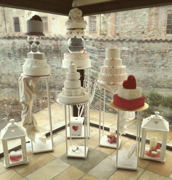 Le nostre wedding cake al Castello Rosso