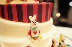 Il Bianconiglio di Alice nel Paese delle Meraviglie - Wedding cake - dettaglio